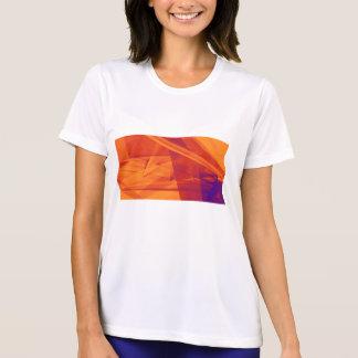 Camiseta Fondo abstracto púrpura anaranjado para el diseño