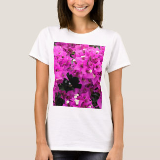 Camiseta Fondo fucsia púrpura del Bougainvillea