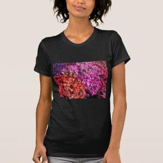 Camiseta Fondo multicolor de la textura de las flores de la