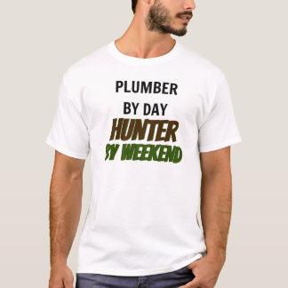 Camiseta Fontanero del cazador del día por fin de semana