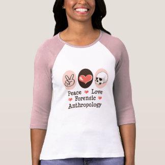 Camiseta forense del raglán de la antropología del