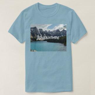 Camiseta Foto al aire libre que sube, el caminar de la