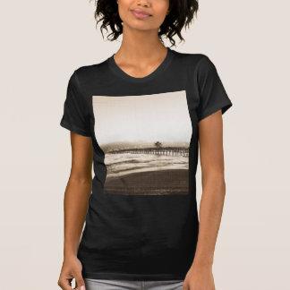Camiseta Foto del vintage de la playa de California del