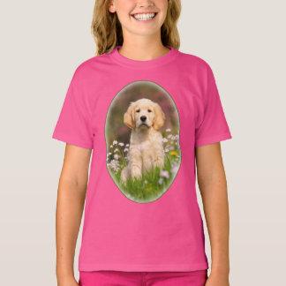 Camiseta Foto linda del mascota del perrito del perro del