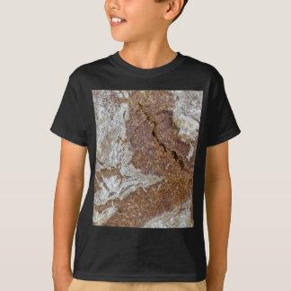 Camiseta Foto macra de la superficie del pan marrón de Ger