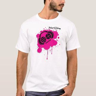 Camiseta Four4ths:: Logotipo de la salpicadura del rosa y