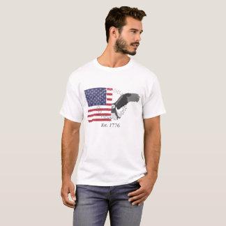 Camiseta Fractura de la bandera americana y del águila