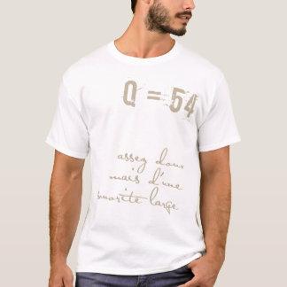 Camiseta francesa del número de la música