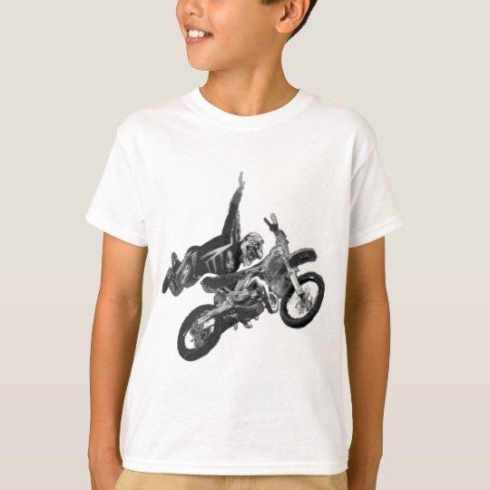 Camiseta Freestyling con la bici de la suciedad