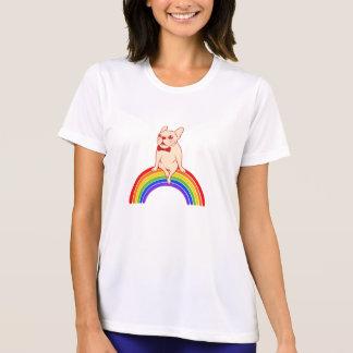 Camiseta Frenchie celebra mes del orgullo en el arco iris