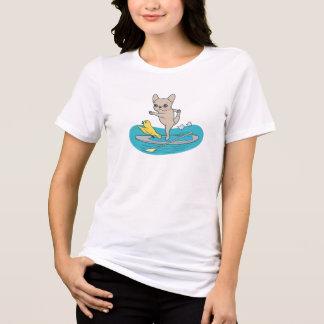 Camiseta Frenchie que hace yoga en el tablero de paleta de