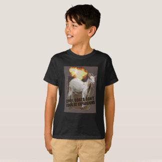 Camiseta fresca de la explosión de las cabras