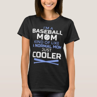Camiseta fresca de la mamá del béisbol - regalo