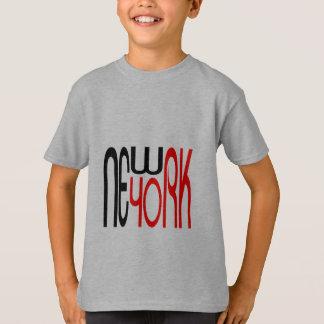 Camiseta fresca de la tipografía de Nueva York