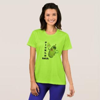 Camiseta fresca de Pickleball de la verde lima