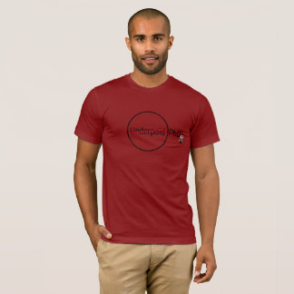 Camiseta fresca del rojo del científico