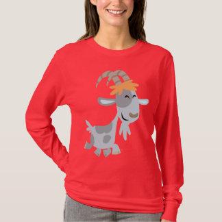Camiseta fresca linda de las mujeres de la cabra