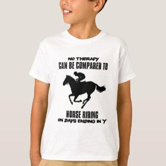 Camiseta fresco y tendiendo diseños del montar a caballo