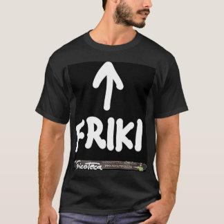 Camiseta Friki Texto blanco sobre negro.