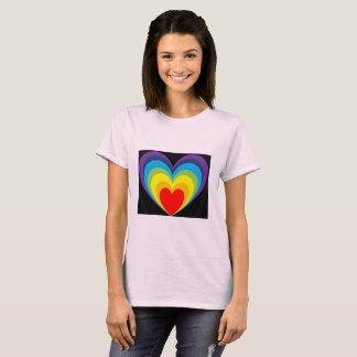 Camiseta frontera del corazón