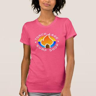 Camiseta fucsia del logotipo del Alt de las mujere