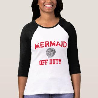 Camiseta fuera de servicio del béisbol de la