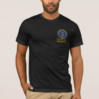 Camiseta FUGITIVA negra del AGENTE de la