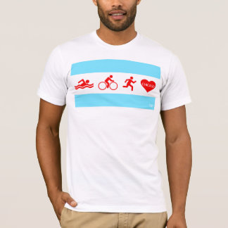 Camiseta Funcionamiento Chicago de la bici de la nadada