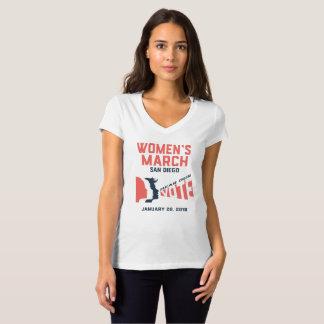 Camiseta Funcionario de marzo San Diego de las mujeres V