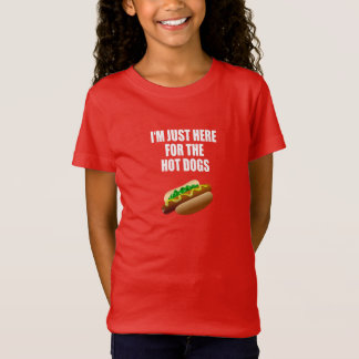 """Camiseta Funny: I'm justamente Hot here the Dogs"""" BBQ,"""