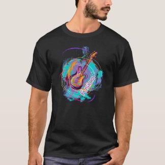 Camiseta Fusión-Música de la guitarra con la sensación