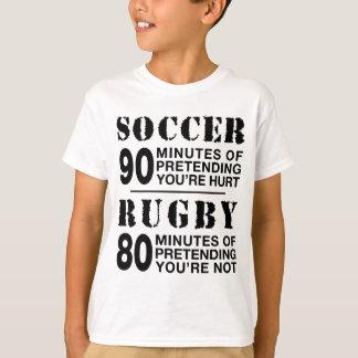 Camiseta Fútbol contra rugbi