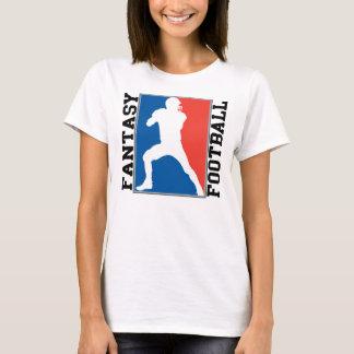 Camiseta Fútbol de la fantasía, logotipo blanco y azul rojo