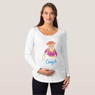 Camiseta futura de la maternidad de la vaquera