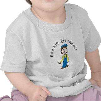 Camiseta futura del niño del mecánico