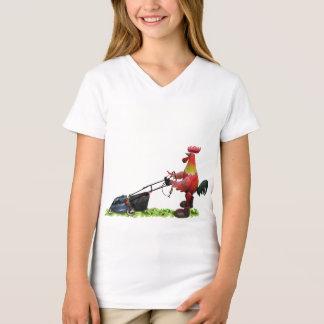 Camiseta Gallo rojo con las botas de un trabajo del