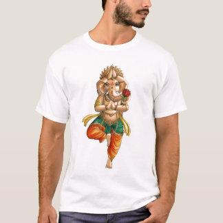 Camiseta Ganesha en una actitud de la yoga de Vrksasana