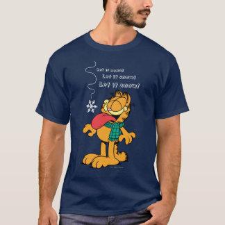 Camiseta ¡Garfield lo dejó nevar!