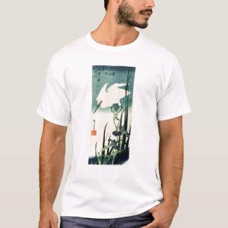 Camiseta Garza e iris blancos