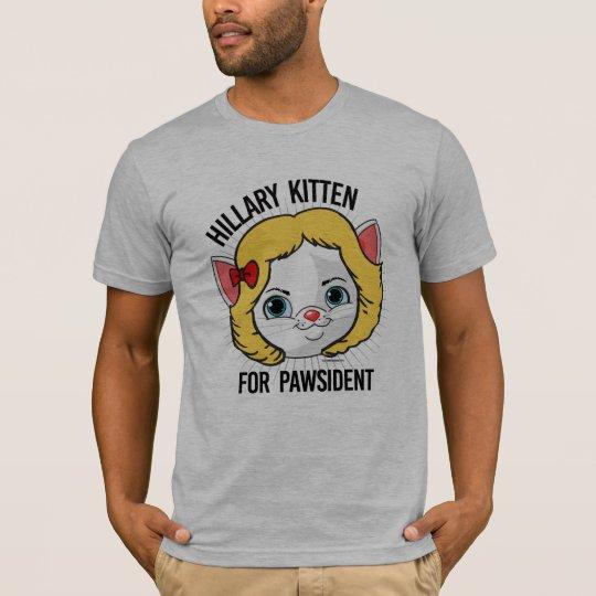 Camiseta Gatito de Hillary para Pawsident