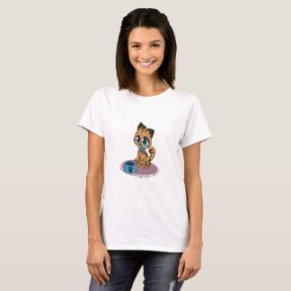 Camiseta Gatito lindo mullido juguetón adorable con los
