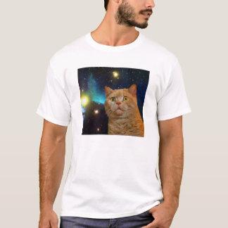 Camiseta Gatito sorprendido del espacio