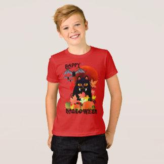 Camiseta Gatito y palos negros de Halloween