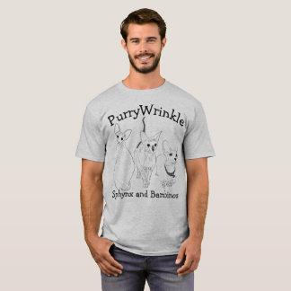 Camiseta Gatitos de PurryWrinkle Sphynx y del Bambino
