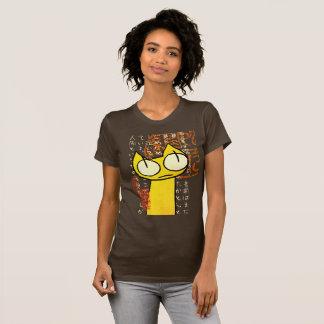 Camiseta Gato amarillo el mirar fijamente