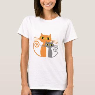 Camiseta Gato anaranjado, gato gris