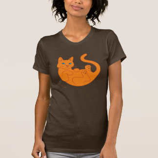 Camiseta Gato anaranjado, ojos azules
