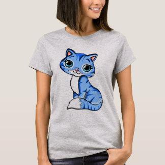Camiseta Gato azul lindo del gatito