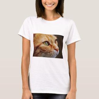 Camiseta Gato blanco anaranjado
