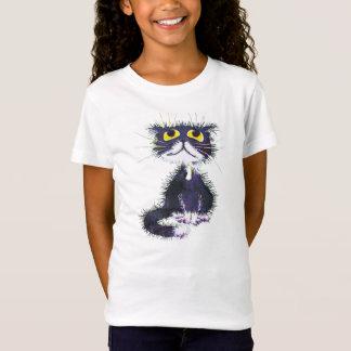 Camiseta Gato blanco y negro